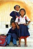 Schoolgirls, Bodnath, Nepal Royalty Free Stock Photography