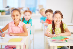 Schoolgirls Stock Images