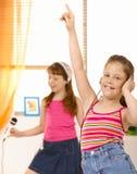Schoolgirls having fun Royalty Free Stock Photography
