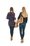 Schoolgirls with school bags Royalty Free Stock Image