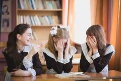 Schoolgirls royalty free stock image