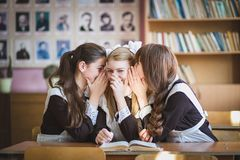 Schoolgirls Royalty Free Stock Photo