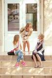schoolgirls tre Royaltyfria Bilder