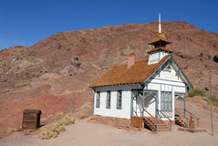 Schoolhouse. Old schoolhouse in a California ghost town Stock Photography