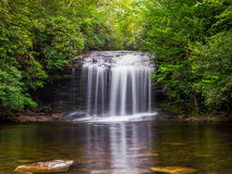 Schoolhouse Falls. A view of Schoolhouse Falls located in the Panthertown area near Cashiers, North Carolina Stock Photography