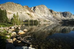 Mountain Reflections at Mirror Lake royalty free stock image