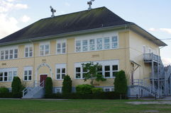 Schoolhouse of Sir Guy Carleton Elementary School. Sir Guy Carleton Elementary School, the oldest school in British Columbia, Canada ranked an A category Royalty Free Stock Photography