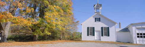 Schoolhouse in Upstate. One-room schoolhouse in Upstate New York State Royalty Free Stock Images