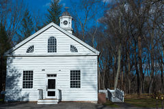 Schoolhouse in the Woods. Building served as a schoolhouse and chapel in colonial times Royalty Free Stock Photos