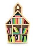 Schoolhuis met kleurrijke boeken Stock Fotografie