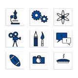 Schoolicons2blue Stock Images