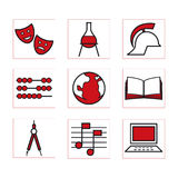 Schooliconsred Images stock