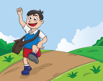 Schooling Boy Royalty Free Stock Photography