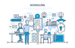 Schooling. Training, education. Teaching on lesson in classroom. Learning, knowledge. Royalty Free Stock Photography