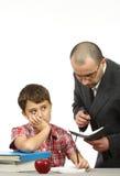 Schooljongen en leraar Stock Afbeelding