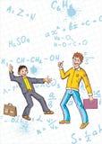 Schooljongen en student stock illustratie