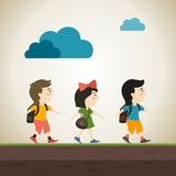 schooljongens Stock Foto