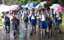 Schooljongens in eenvormig Stock Afbeelding
