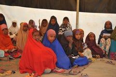 Schoolkamp voor Afrikaanse vluchtelingen op de rand van Hargeisa royalty-vrije stock fotografie