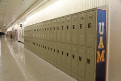 Schoolkast, middelbare schoolkast, universiteitskast Royalty-vrije Stock Afbeelding