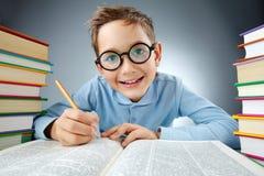 Schoolkid inteligente Imagem de Stock Royalty Free