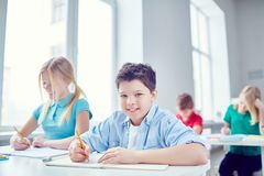 Schoolkids at lesson Royalty Free Stock Images