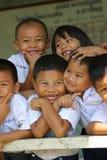 Schoolkids tailandesi Fotografia Stock