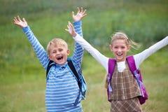 Schoolkind Royalty-vrije Stock Afbeeldingen