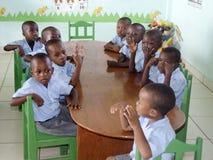 Schoolkinderen in Haïti royalty-vrije stock foto