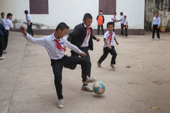 Schoolkinderen in Laos Royalty-vrije Stock Fotografie