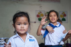 Schoolkinderen in Laos Royalty-vrije Stock Afbeeldingen