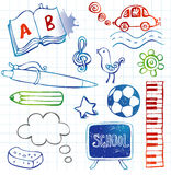 Schoolkrabbels, vectorreeks Stock Fotografie
