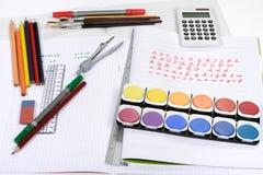 Schoollevering Stock Foto