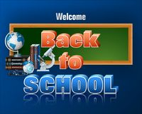 Schoollevering voor terug naar school, gebeurtenis Stock Fotografie