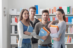 Schoolmates posing together Royalty Free Stock Photography