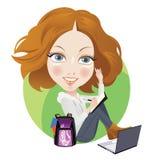 Schoolmeisje royalty-vrije illustratie