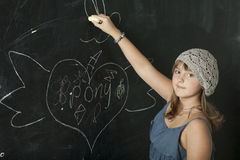 Schoolmeisje stock foto
