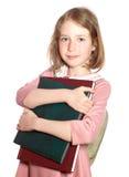 Schoolmeisje met boeken Stock Afbeelding