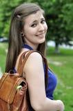 Schoolmeisje met rugzak Royalty-vrije Stock Afbeelding