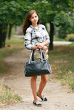 Schoolmeisje Openlucht Royalty-vrije Stock Foto's