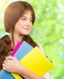 Schoolmeisjeportret Stock Foto