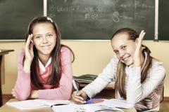 Schoolmeisjes Royalty-vrije Stock Afbeeldingen