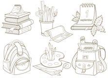Schoolpictogrammen royalty-vrije illustratie