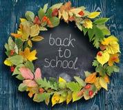 Schoolraad met de inschrijving ` terug naar school ` Stock Afbeeldingen