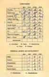 Schoolrapport vanaf 1965 Royalty-vrije Stock Foto's