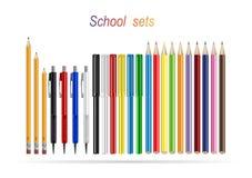 Schoolreeksen Stock Foto