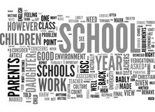 When Schools Behave Badly Word Cloud Royalty Free Stock Image