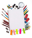 Schools items Royalty Free Stock Photos