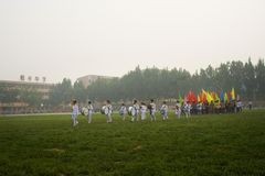 The schools opening ceremony of the games stock image