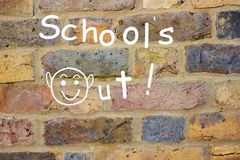Schools out! Royalty Free Stock Photography